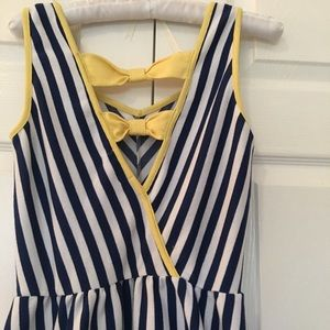 E & M small summer dress size S blue/white